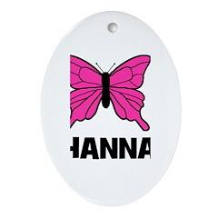 Butterfly - Hanna Oval Ornament