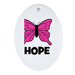 Butterfly - Hope Oval Ornament