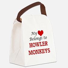 Cute Primates Canvas Lunch Bag