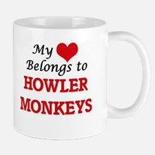 My heart belongs to Howler Monkeys Mugs