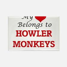 My heart belongs to Howler Monkeys Magnets