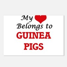 My heart belongs to Guine Postcards (Package of 8)