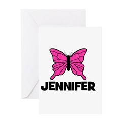 Butterfly - Jennifer Greeting Card