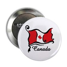 "Funky Canadian Flag 2.25"" Button"