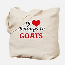 My heart belongs to Goats Tote Bag