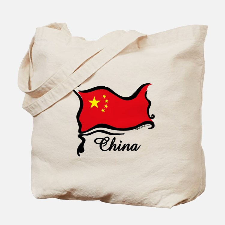 Funky Chinese Flag Tote Bag