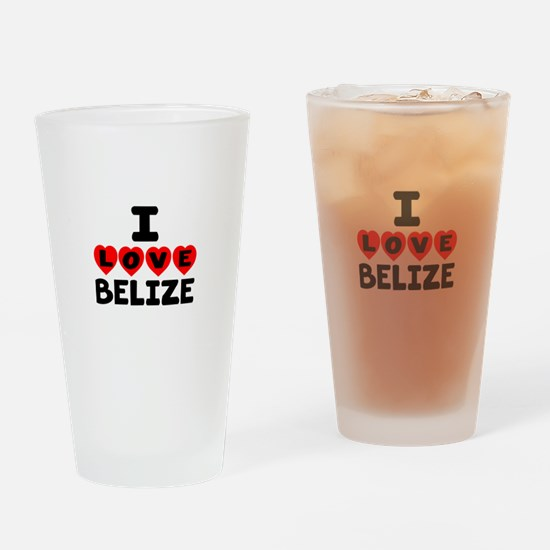I Love Belize Drinking Glass