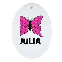 Butterfly - Julia Oval Ornament