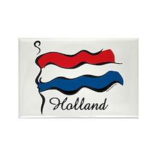 Funky Dutch Flag Rectangle Magnet
