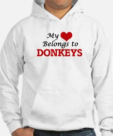 My heart belongs to Donkeys Hoodie