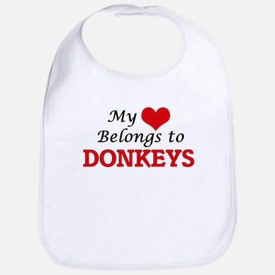 My heart belongs to Donkeys Bib