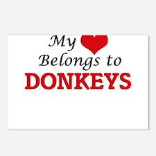 My heart belongs to Donke Postcards (Package of 8)