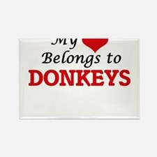 My heart belongs to Donkeys Magnets