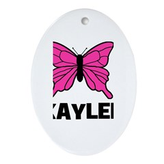 Butterfly - Kaylee Oval Ornament