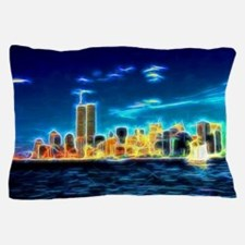 Manhattan Skyline, New York, USA Pillow Case