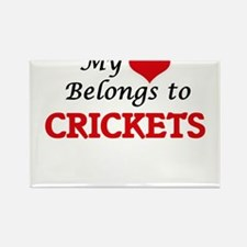My heart belongs to Crickets Magnets