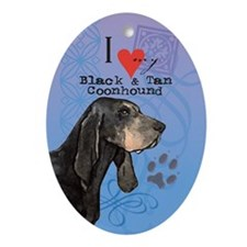 Black and Tan Coonhound Oval Ornament