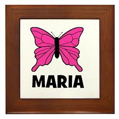 Butterfly - Maria Framed Tile