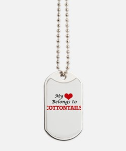 My heart belongs to Cottontails Dog Tags