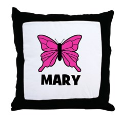 Butterfly - Mary Throw Pillow