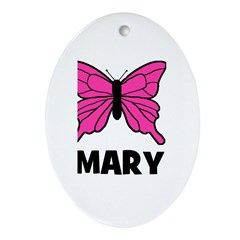 Butterfly - Mary Oval Ornament