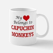 My heart belongs to Capuchin Monkeys Mugs