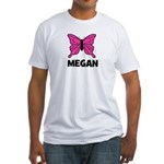 Butterfly - Megan Fitted T-Shirt