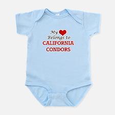 My heart belongs to California Condors Body Suit