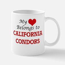 My heart belongs to California Condors Mugs