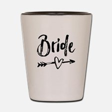 Bride Gifts Script Shot Glass