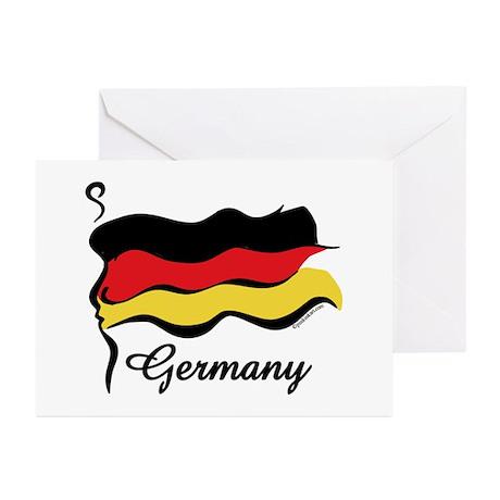 Funky German Flag Greeting Cards (Pk of 20)
