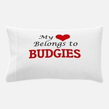 My heart belongs to Budgies Pillow Case