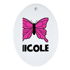 Butterfly - Nicole Oval Ornament