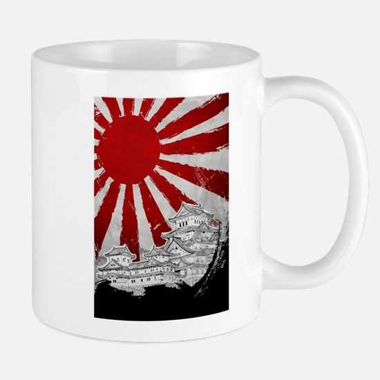 Japanese Palace and Sun Mugs