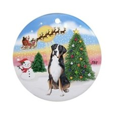 Take Off & Greater Swiss Mt Dog Ornament (Round)