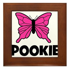 Butterfly - Pookie Framed Tile