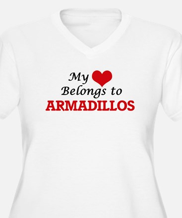 My heart belongs to Armadillos Plus Size T-Shirt