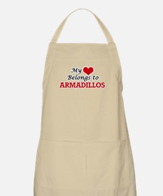 My heart belongs to Armadillos Apron