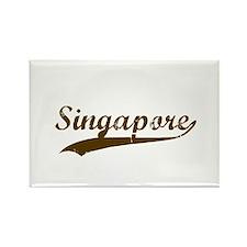 Vintage Singapore Retro Rectangle Magnet