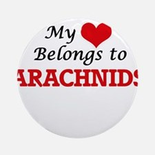 My heart belongs to Arachnids Round Ornament