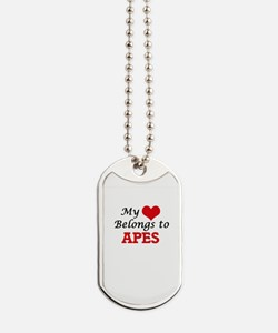 My heart belongs to Apes Dog Tags