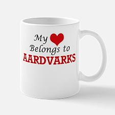 My heart belongs to Aardvarks Mugs
