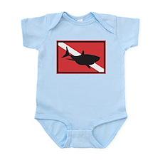 Shark Diving Flag Infant Bodysuit