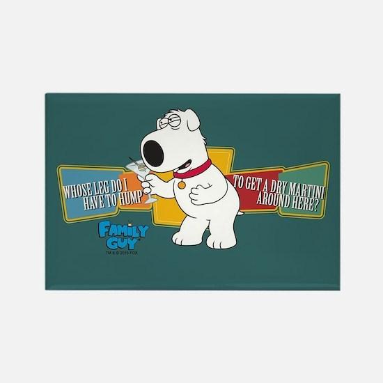 Family Guy Brian Martini Rectangle Magnet