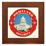 Masonic Homeland Security Framed Tile