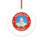 Masonic Homeland Security Ornament (Round)