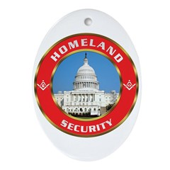 Masonic Homeland Security Oval Ornament
