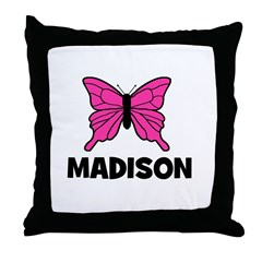 Butterfly - Madison Throw Pillow