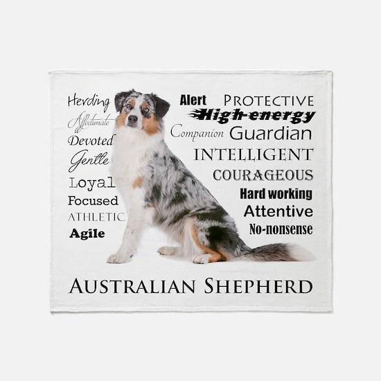 Aussie Traits Throw Blanket