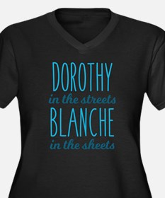Dorothy in t Women's Plus Size V-Neck Dark T-Shirt